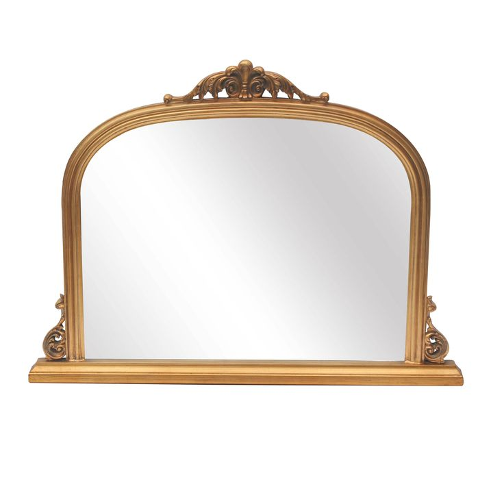 Abrielle French Style Gold Overmantle Mirror