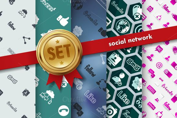 Set of social network icons by Palau on @creativemarket