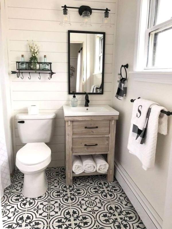 Small Bathroom Design Ideas In 2020 Bathroom Vanity Decor Bathroom Farmhouse Style Bathroom Design Small