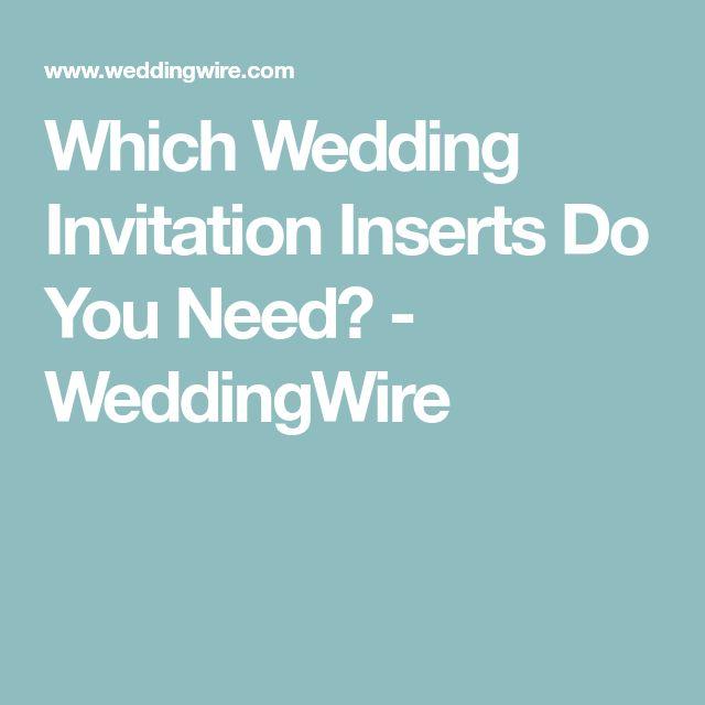 Which Wedding Invitation Inserts Do You Need? - WeddingWire