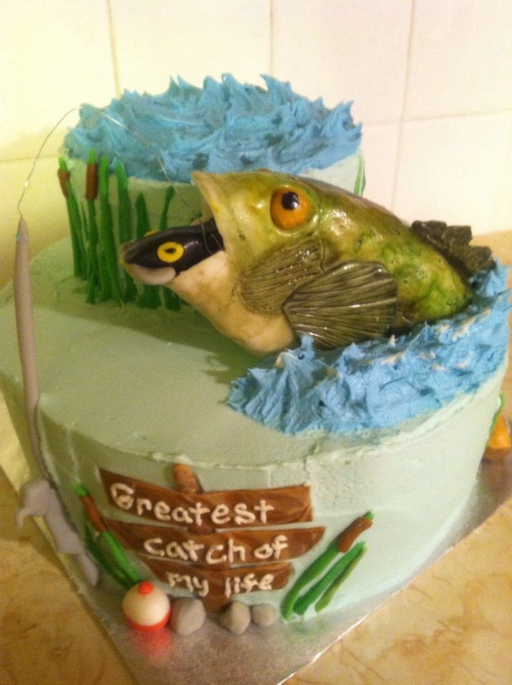 Fishing groom's cake~Quote would be great on personalized napkins! Don't forget…