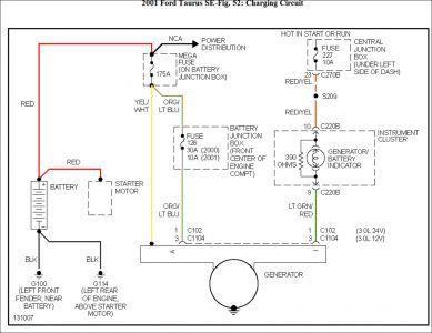 2001 ford taurus wiring diagram | alternator | pinterest | taurus, Wiring diagram