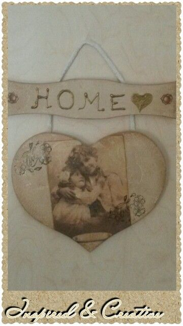 For our home decoupage heart
