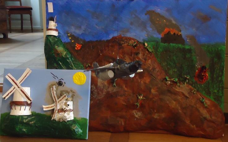 "Fourth graders reinterpretation of ""The Battle of Dybbøl"""