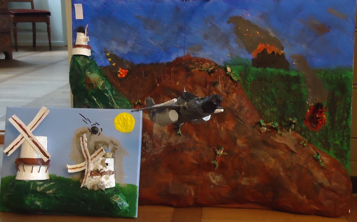 "Fourth graders reinterpretation of ""The Battle of Dybbøl"""