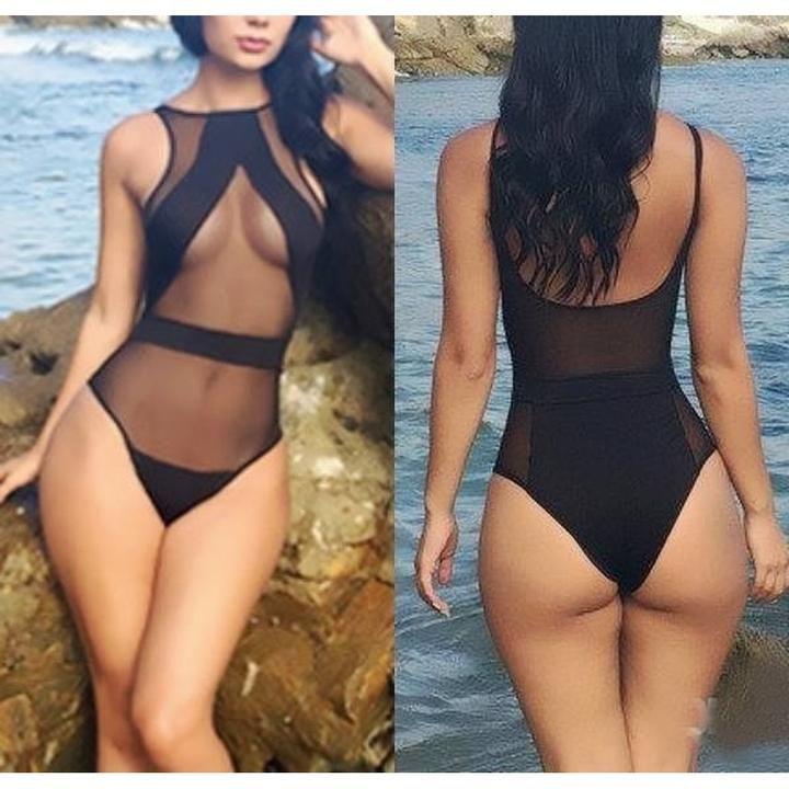 Women/'s One Piece Monokini Sheer Swimwear Bathing Swimsuit Romper Tops Beachwear