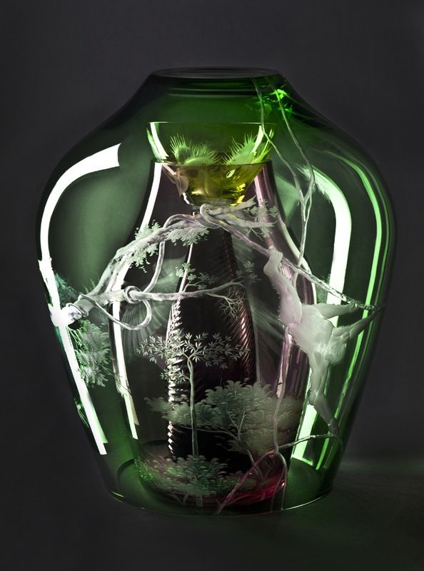 Christian Haas, Focus The Unknown, Theresienthal, Glass Objects, Design