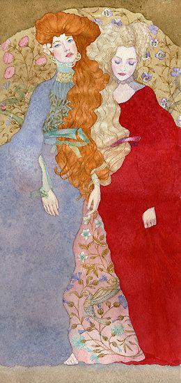 ▫Duets▫ sisters, twins & groups of two in art and vintage photos - Masha Kurbatova   Tumblr