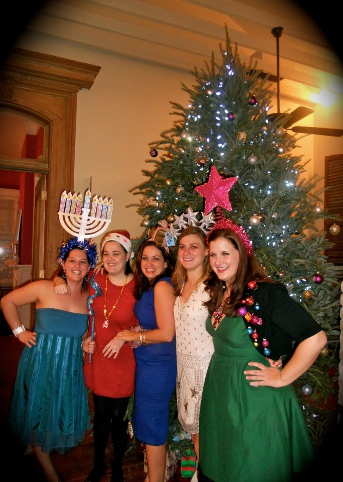 Funny Christmas Theme Party Ideas Part - 38: Girls Tacky Holiday Party.... Lots Of Funny Hats, Glitter And Drinks