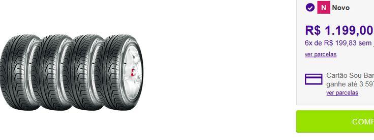 Kit com 4 Pneus Pirelli Aro 16 205/55R16 Phantom 91W << R$ 97119 >>