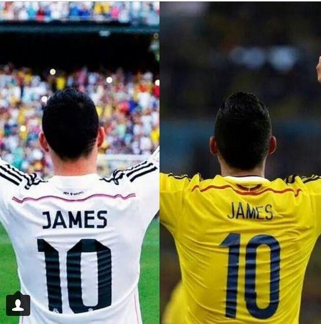 """Miren a este bello """"10"""" el más bello de todos! JAMES se viste de blanco! Que orgullo! Colombia, Colombia ya es fan #1 del Real Madrid!"""