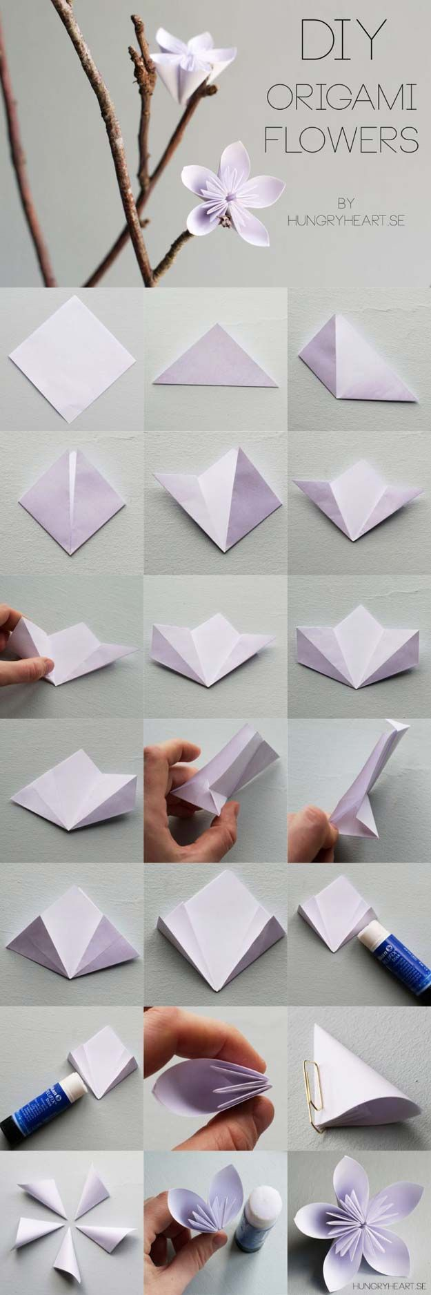 Best Origami Tutorials - Flower Origami - Simple DIY Origami Tutorial Projects for