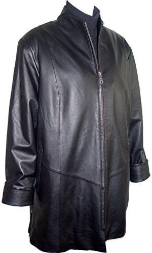 """Product review for Johnny 5001 Female Leather Jacket & Coats Fashion Soft Lamb.  - Mandarin Collar, Concealed Zip Front Closure, Welt Pocket Silky feel Pocket Lining, Lined, Petite Regular Plus Size . Not all leather is the same. When vendors say or state, """"leather or genuine leather"""", they generally use """"pig skin"""", which is the worst quality of leather and..."""