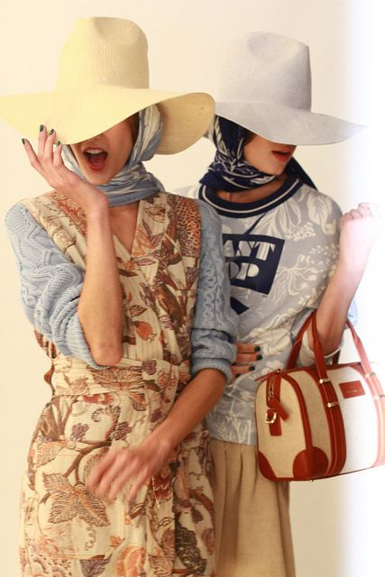 our favorite accessories from NYFW SS15 - hijab is IN!