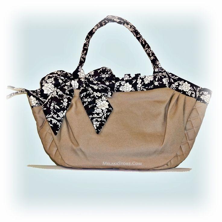 NaRaYa  Beige Brown Ribbon Hand Bag, RM95.00