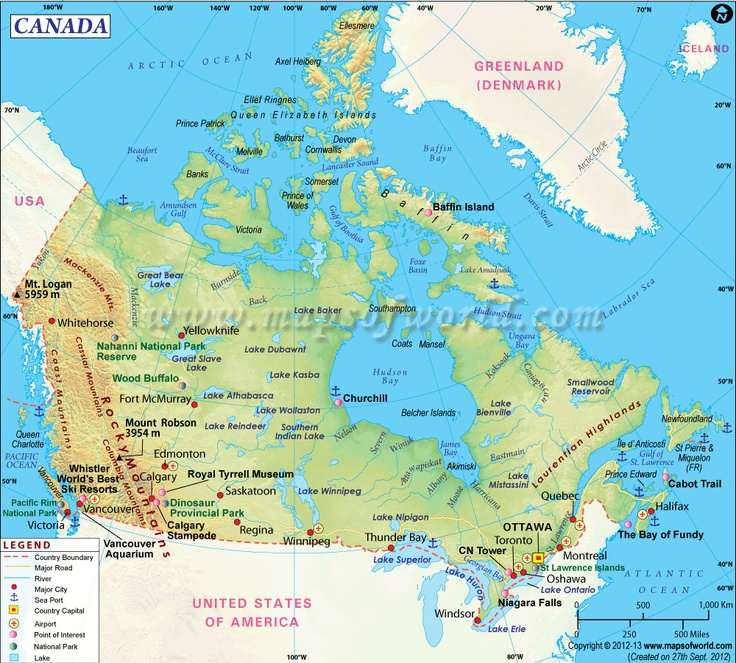 detailed canada map for u