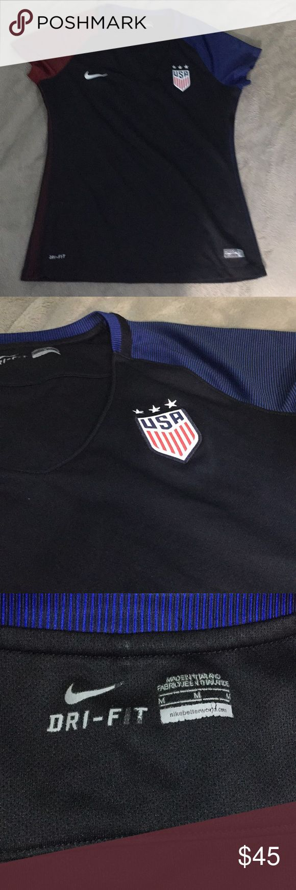 Nike USA Soccer Team Jersey No visible signs of wear! I'm sad to let go of because it just doesn't fit anymore. There is no corresponding specific player. It is the 2016 jersey Nike Tops Tees - Short Sleeve