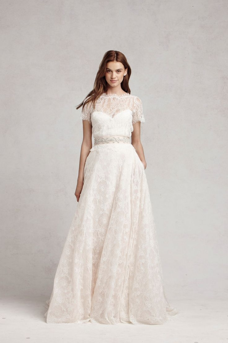 Bliss by monique lhuillier at kleinfeld wedding dresses for Kleinfeld wedding dresses with sleeves