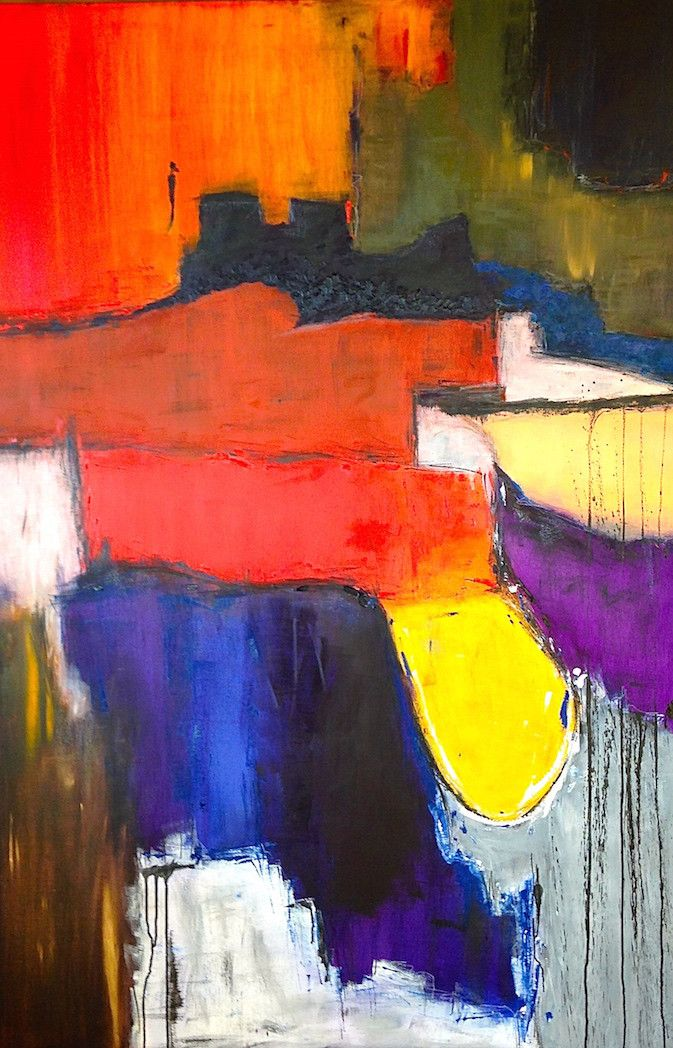 Beautiful abstract painting created by local artist Kali. More original abstract…