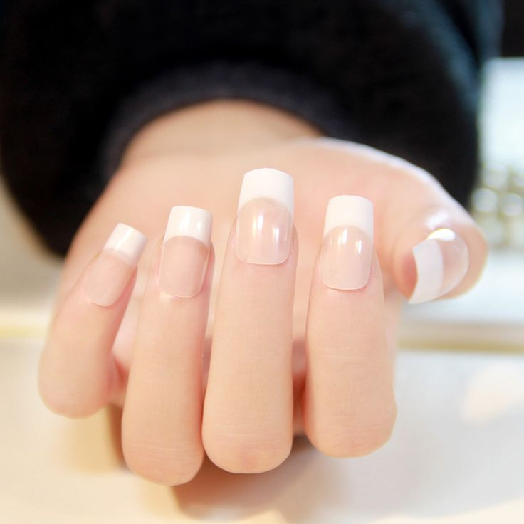 Classic french tips - my favorite way to get my nails done.