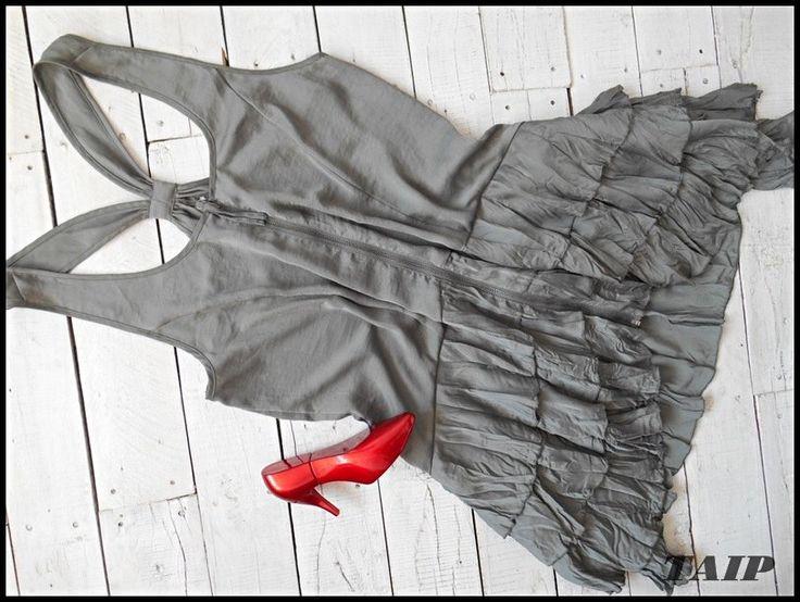 H M Zjawiskowa Khaki Tunika Zip 40 42 6061181699 Oficjalne Archiwum Allegro Khaki Fashion Dresses
