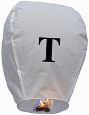 Lanterna Volante con lettera T