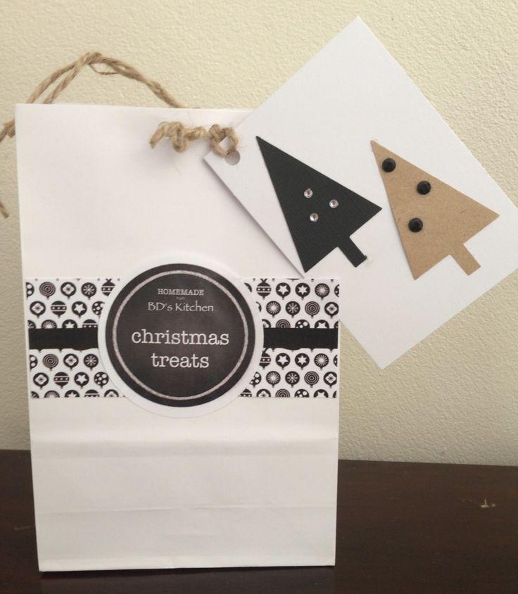 Handmade Christmas Gift Bag with Gift Tag