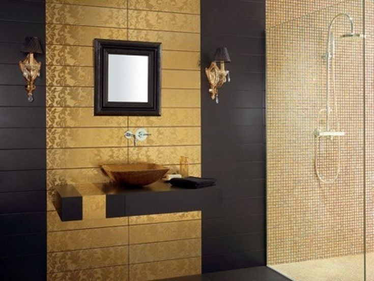23 Best Bathrooms With Feature Walls Images On Pinterest - luxury bathroom tiles