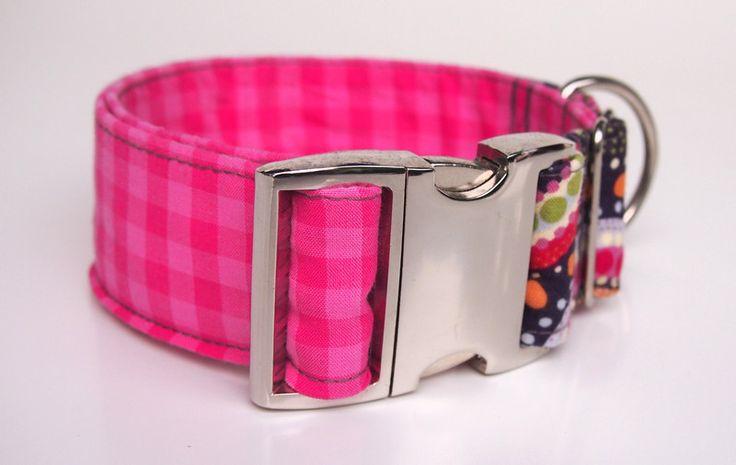 Hundehalsband von Stitchbully - Ethnokreise Pink von stitchbully  auf DaWanda.com