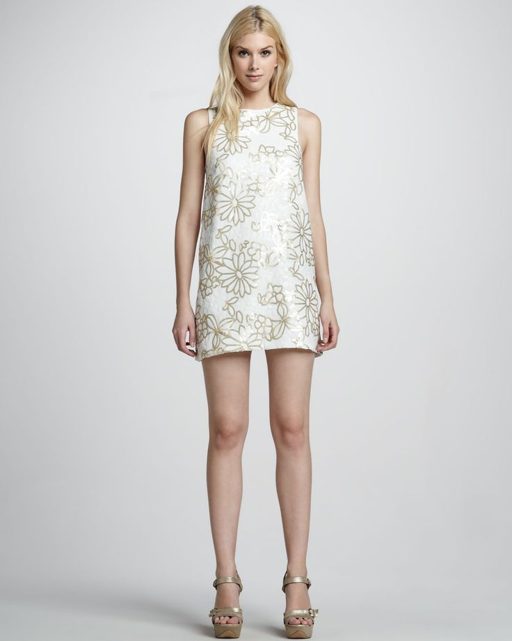 Dolce Vita   Sequin-Flower Shift Dress - CUSP