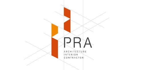 Pra architect interior contractor logo design for Interior logo designs