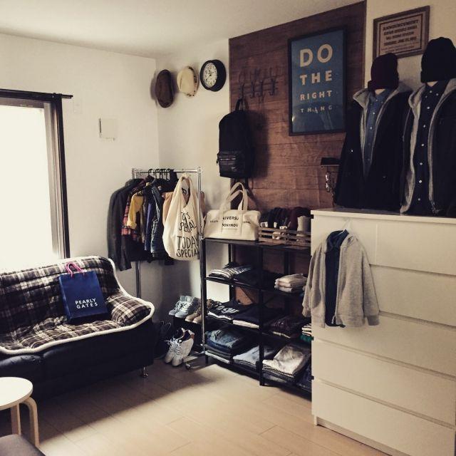 nico and/TODAY'S SPECIAL/男前/IKEA/洋服部屋…などのインテリア実例 - 2015-04-30 00:43:15   RoomClip(ルームクリップ)