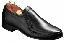 Barker George Mens Black leather moccasin shoe http://www.robinsonsshoes.com/mens-shoes/barker-george.html