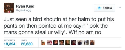 This weird AF exchange. | The 19 Cringiest Things That Have Ever Happened In Scotland