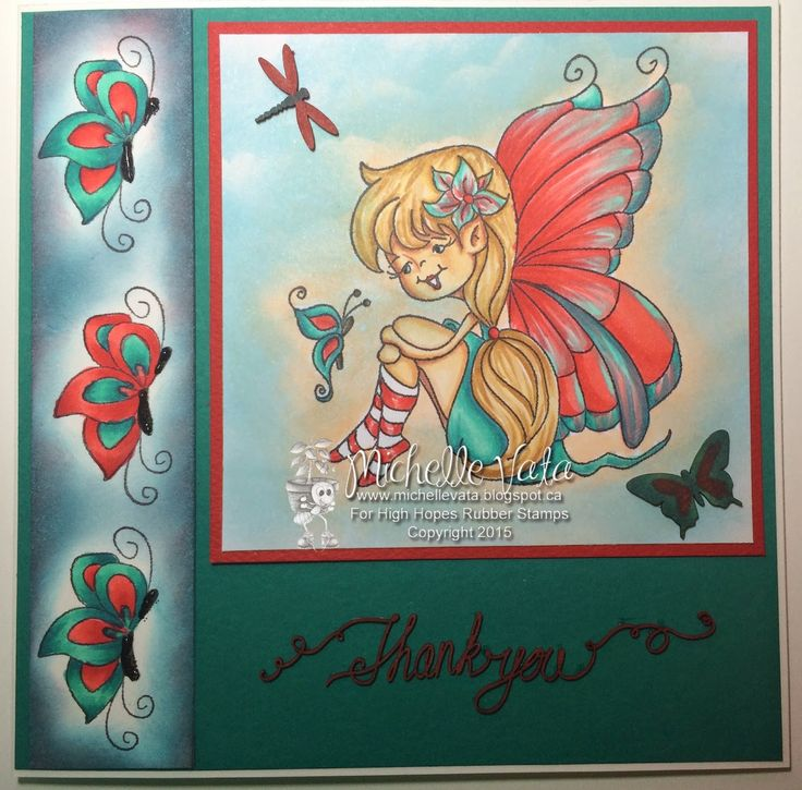 """High Hopes Stamps: Thank You by Michelle  using New Release """"Julie's Smile"""""""