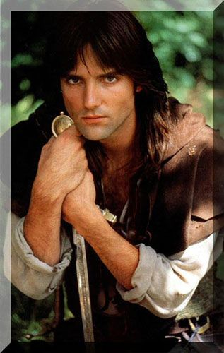 Michael Praed as Robin of Loxley -- So handsome. He is the KING of sutble acting. Watch him very carefully. Every thought and emotion his character is thinking and feeling is plainly written on his face. He is hands down the best Robin Hood ever.