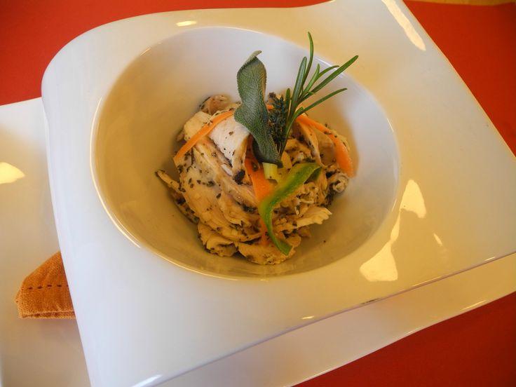 Petto di pollo alle erbette cotto a bassa temperatura - Incontro con lo chef Maurizio Pinto
