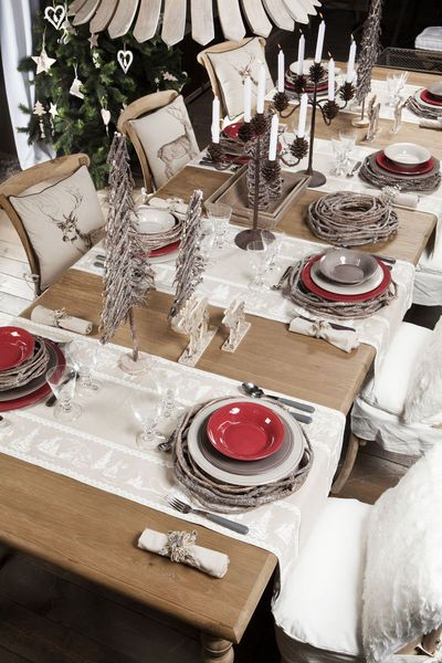 Les 25 meilleures id es de la cat gorie d corations de table de no l sur pinterest couverts et - Table de noel rouge ...