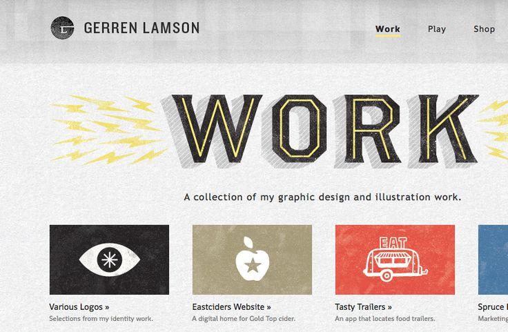inspiring portfolio  love the handdrawn quality of his work    www.gerrenlamson.com: Webdesign, Design Inspiration,  Website, Web Design, Design Ideas, Design Portfolio, Website Design, Gerren Lamson, Designinspiration