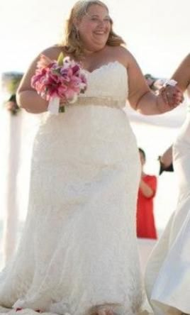 Used plus size bridal dresses