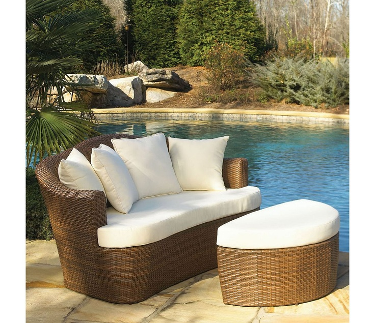 Panama Jack Outdoor Key Biscayne Loveseat And Ottoman