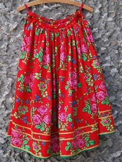 Krakow Women's Skirt.  Wore this in either the red or green with the white shirt and sequined vest and black boots.VE