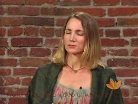 Meditation Practice with Sarah Powers.  Insight is the name of this type of mediation.  There are many types.  Try a few different types and repeat what feels right for you.