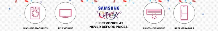 #Tatacliq Samsung Carnival Electronics #Sale  #SamsungSale - Great #Discounts on Samsung #MobilesPhones, Home & Kitchen Appliances Online at Tata CLiQ. Get 100% genuine products and free delivery on all orders.