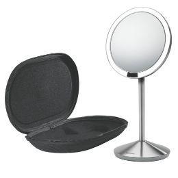 Sensor Kosmetikspiegel mit tru-lux LED und Aufbewahrungs- und Reisebox. Spiegel über USB aufladbar.