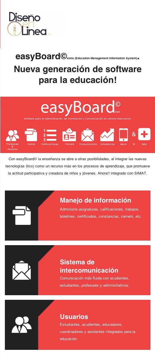 Entérate de nuestra plataforma educativa #easyBoard©, escríbenos a info@del.com.co  #DisenoenLinea #EMIS #Educacion #TIC