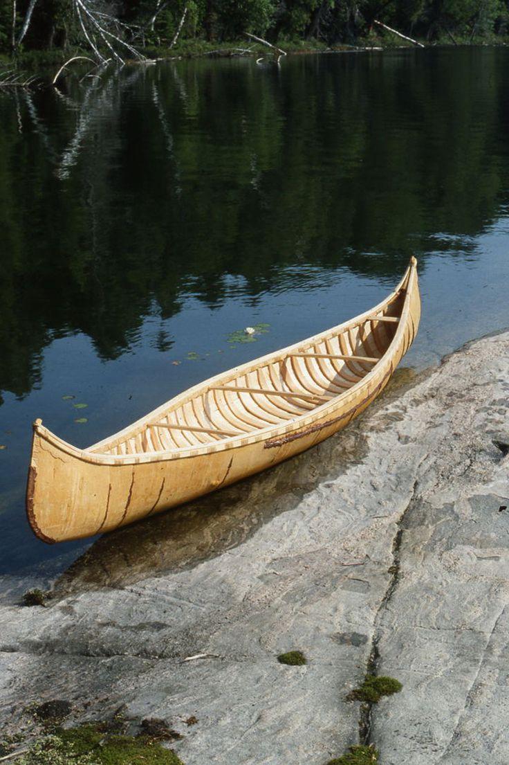 how to make a birch bark canoe
