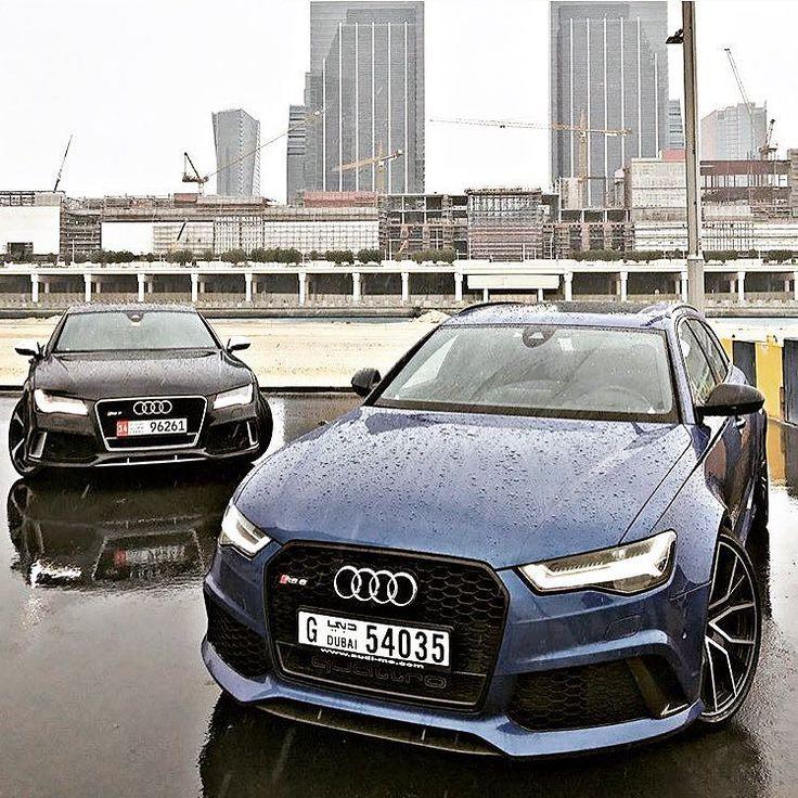 UAE B&B choices - blue or black? - photo @zaidzilla #Audi #RS6 #RS7 ---- oooo #audidriven - what else ---- #AudiRS6 #AudiRS7 #quattro #4rings #drivenbyvorsprung #audirings #blueRS6 #blackRS7 #dubai #audidubai #uae #RS6performance