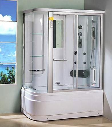 38 best tub shower combos images on pinterest bathroom ideas bathrooms decor and soaking tubs. Black Bedroom Furniture Sets. Home Design Ideas