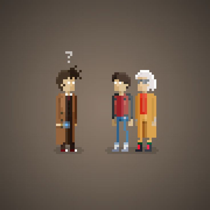 "009 ""You're following me?""  PERPLEXITY SERIES #ppxty  #10thdoctor #tenthdoctor #doctorwho #davidtennant #michaeljfox #christopherlloyd #martymcfly #docbrown #bttf #backtothefuture #perplexity #pixel #pixelart #8bit #16bit #funny #movies #amazing #series #nerd #nerdy #nerds"